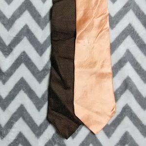 Metropolitan View 2 Tie Lot 100% Silk